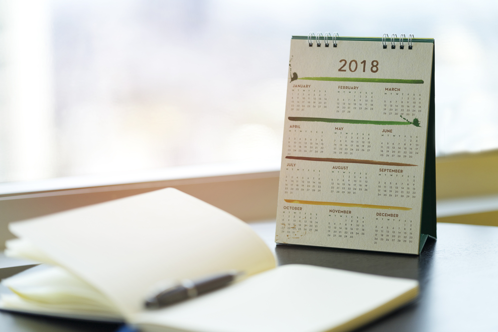 reminders of important tax dates for 2018